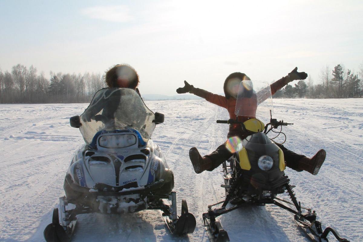 Фото:  Снежное сафари на снегоходе
