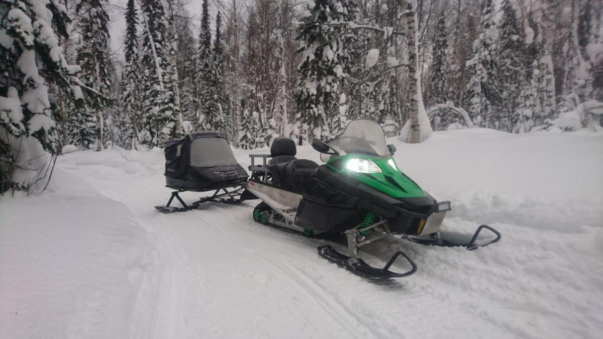 Фото: Прогулка на снегоходах по Шерегешу