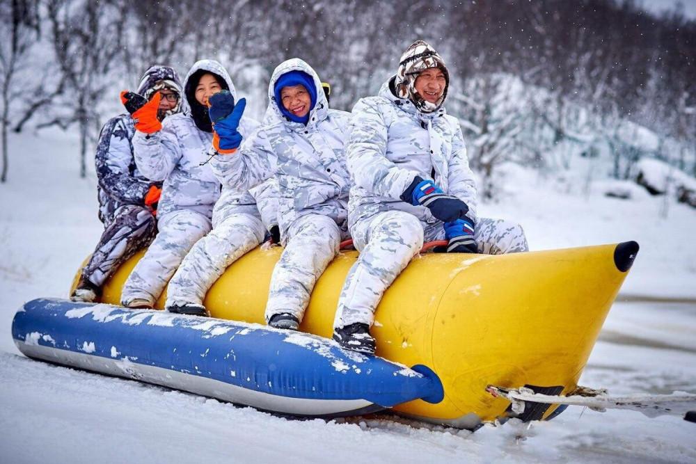 Фото: Катание на снежном банане
