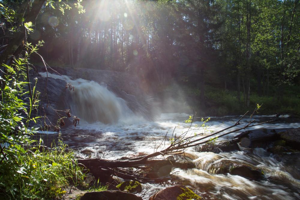 Фото: К водопадам Северного Приладожья