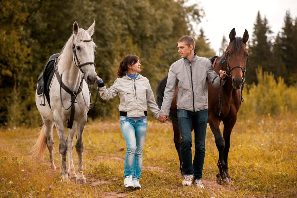 Фото: Романтическая конная прогулка для двоих