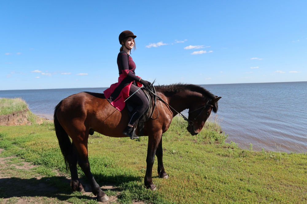 Фото: Прогулка на лошадях к реке Кама