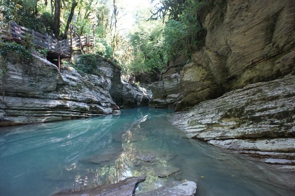 Фото: Каньоны реки Псахо на джипе