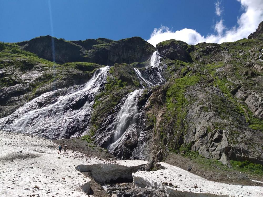 Фото: Домбай. Софруджинские водопады