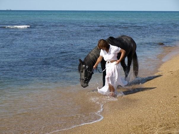 Фото: Верховая прогулка по берегу Черного моря