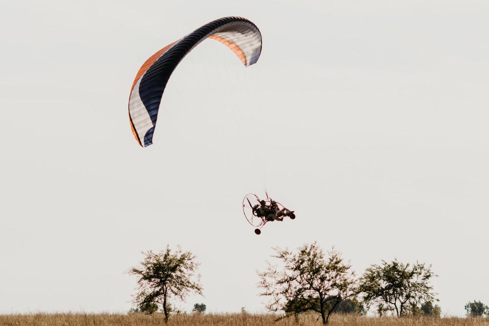 Фото: Полеты на мотопараплане над Енисеем