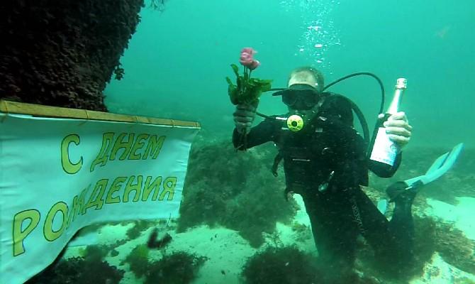Фото: День рождения под водой