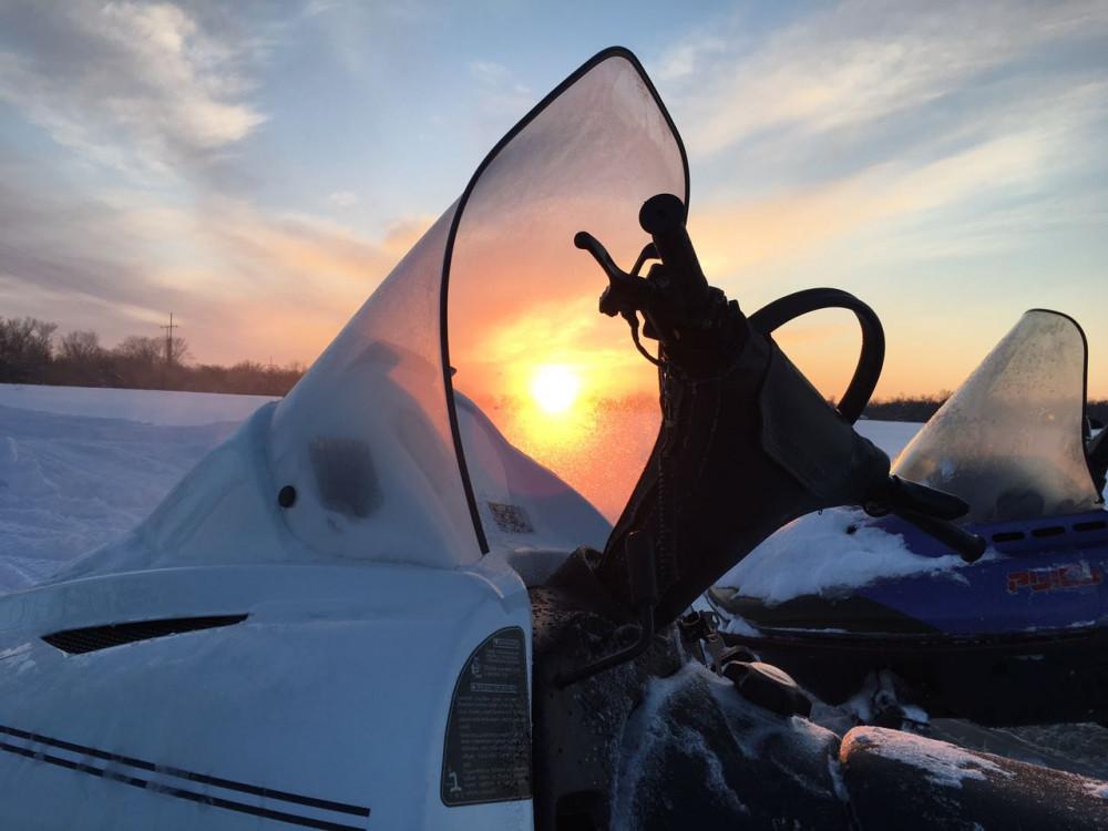 Фото: Маршрут на снегоходе «Трек»