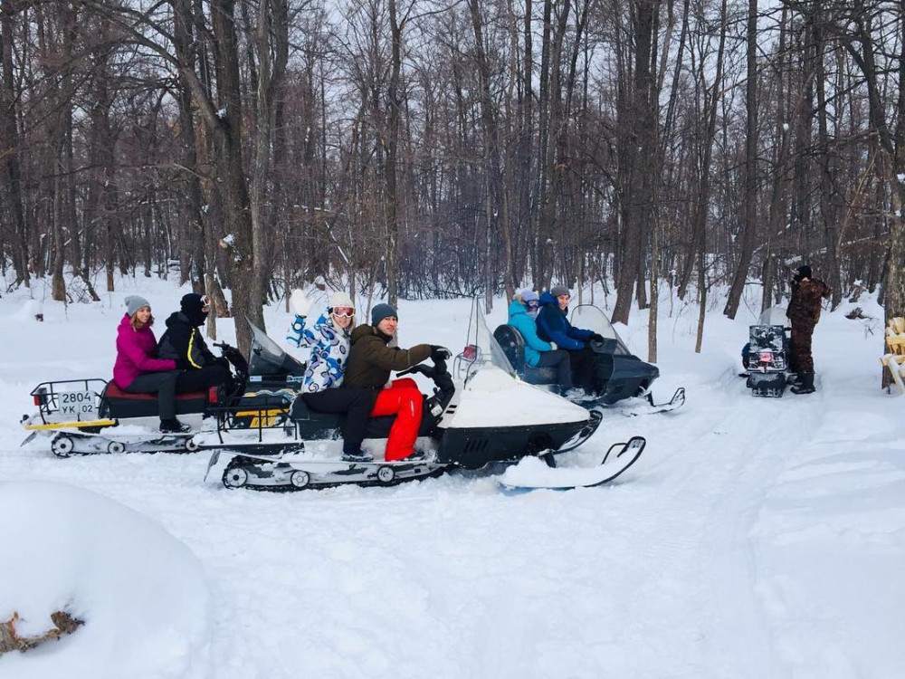 "Фото: Сафари на снегоходе ""Лесная бродилка"""