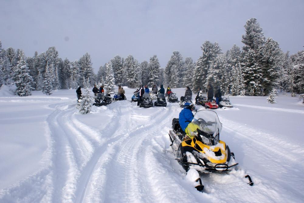 Фото: Снегоходный тур на Каракольские озёра
