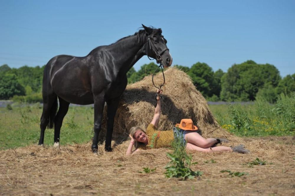 Фото: К Синявинскому озеру на лошадях