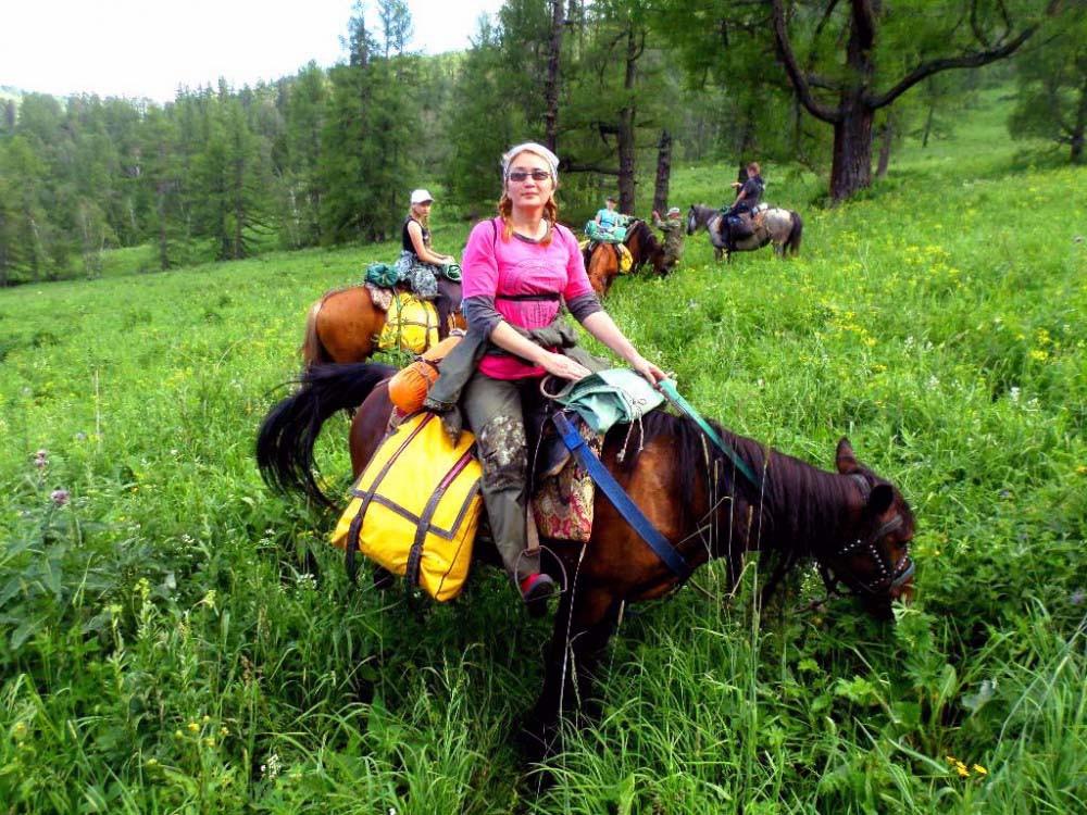 Фото: Конный поход на Емурлинский водопад