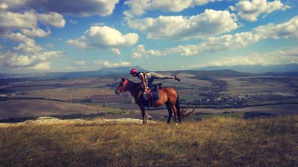 Фото: Таш-Джарган - прогулка на лошадях