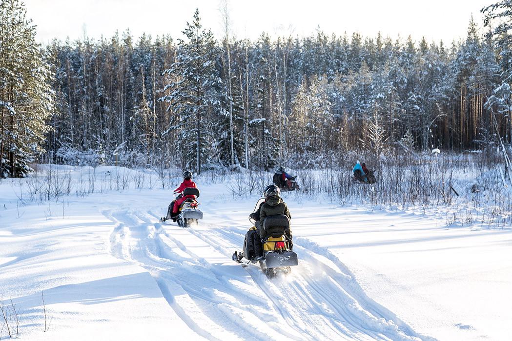 Катание на снегоходах в СПб