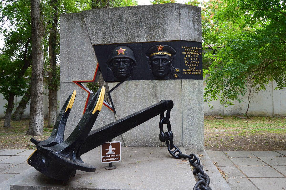 Фото: Якорь крейсера «Красный Кавказ»