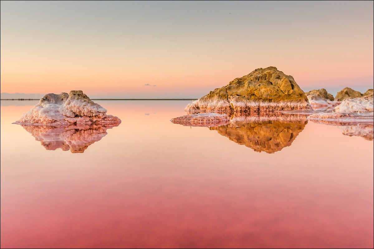 Фото: Кояшское озеро (Розовое озеро)
